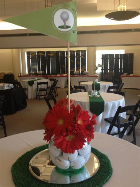 themed centerpieces for tables golf themed table centerpieces for a retirement