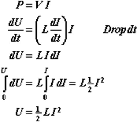 formula of energy in inductor inductance14