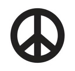 peace sign template peace sign stencil clipart best