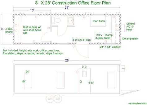 job site layout plan floor plans for commercial modular buildings restroom