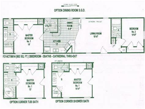 trailer floor plans single wides single wide mobile home floor plans used single wide