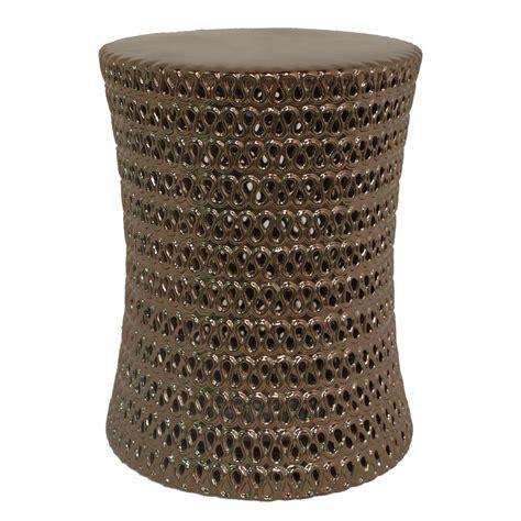 Gold Ceramic Stool by Three Ceramic Garden Stool Shiny Gold 48793 The