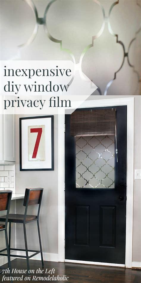 Fenster Sichtschutz Diy by Diy Window Privacy Using Contact Paper