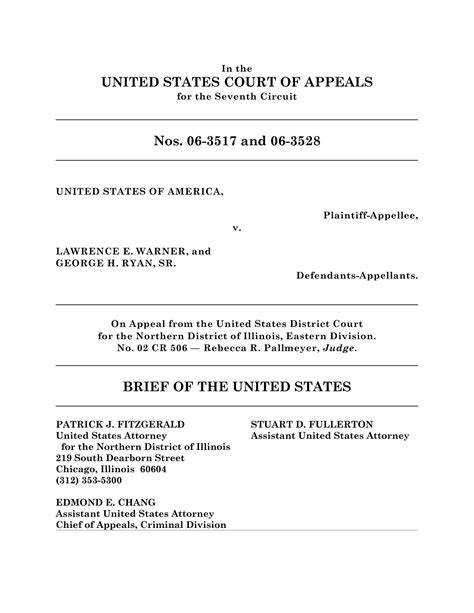 Appellate Brief Briefformat Appellate Brief Cover Page Template