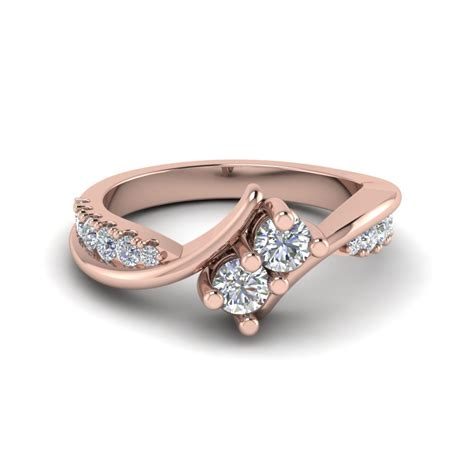 Two Wedding Rings by Two Engagement Rings Fascinating Diamonds