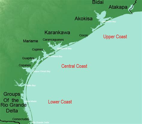 map of the texas coast coastal prairies and marshes