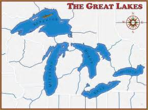map of us with great lakes labeled the great lakes map