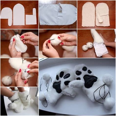 Homemade Home Decor Ideas how to sew warm winter gloves step by step diy tutorial