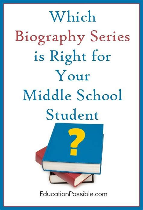 biography for middle school students which biography series is right for your middle school