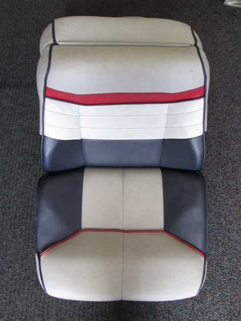 bayliner back to back boat seats 1990 bayliner capri blue grey white red back to back boat seat
