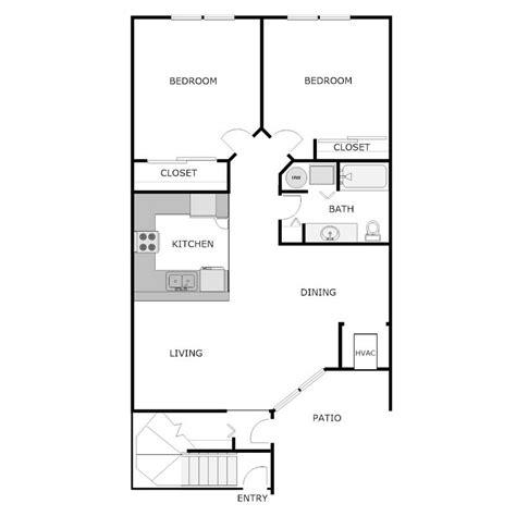 2 bed 2 bath floor plans 2 bedroom 1 bath apartment floor plans