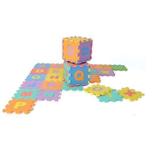 Foam Floor Alphabet And Number Puzzle Mat by 36pcs Large Educational Foam Alphabet Letters Numbers