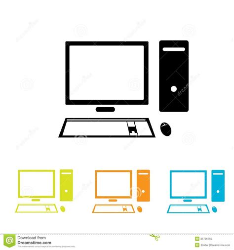 format eps to jpg vector computer icon set stock vector illustration of