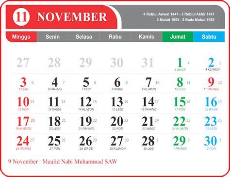 kalender november  indonesia  jpg png kurnio desain