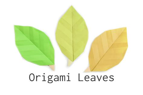 How To Make Paper Leaves - make some easy origami leaves