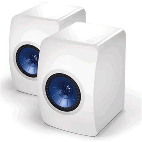 Kef Ls50 Mini Monitor Gloss White Pair kef white ls50 anniversary monitor hifi speaker pair