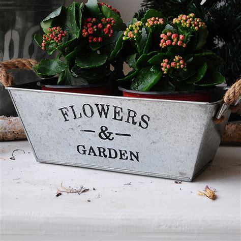 floreros galvanizados europe style garden pot planters decorative metal flower
