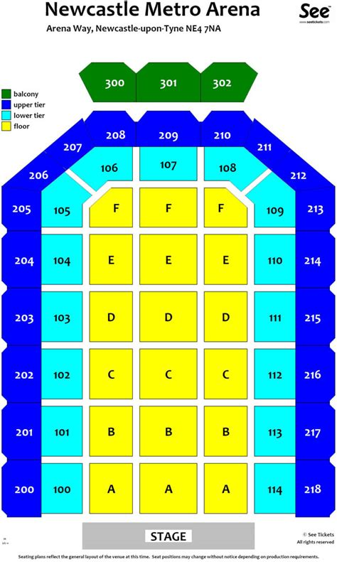 metro radio arena floor plan metro radio arena floor plan newcastle metro radio arena