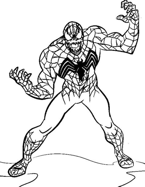 Evil Spiderman Coloring Page   the evil venom spiderman coloring pages spiderman