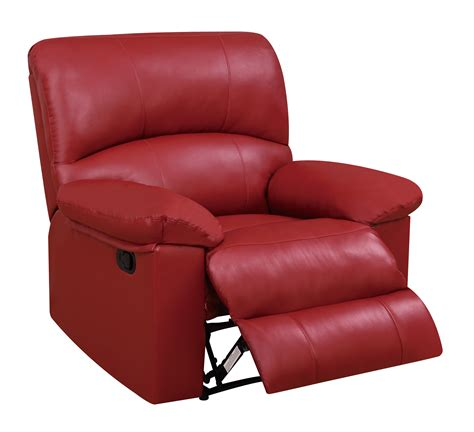 red recliners u99270 red pu glider reclining chair by global furniture