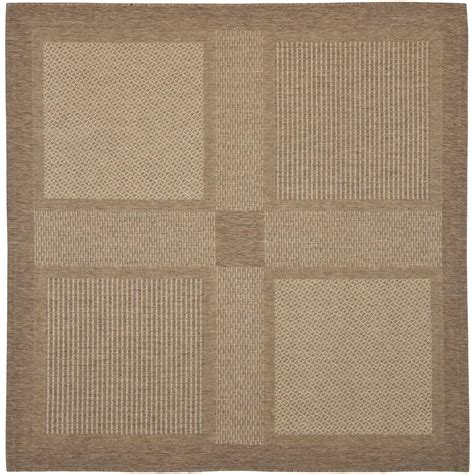 safavieh cy1928 3009 courtyard indoor outdoor area rug brown lowe s canada safavieh courtyard brown 6 ft 7 in x 6 ft 7 in indoor outdoor square area rug cy1928