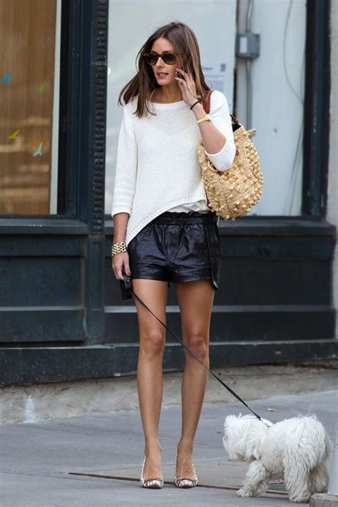 light knit sweater and leather skirt outfit4girls