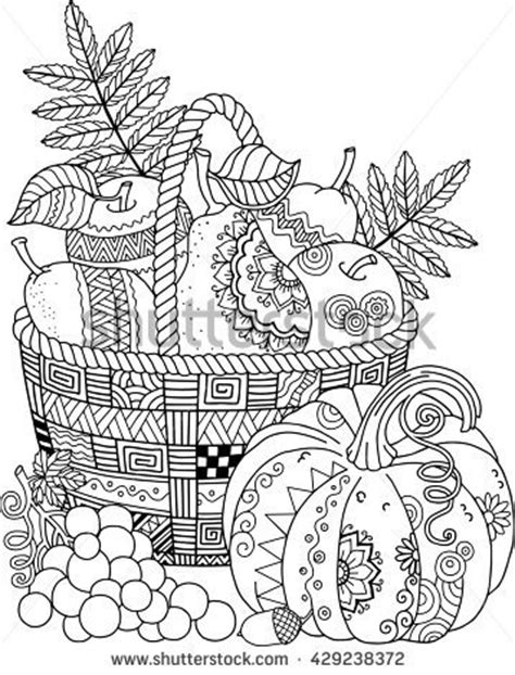 thanksgiving coloring pages advanced adults vectores en stock y arte vectorial shutterstock
