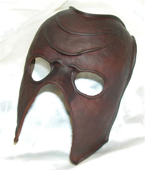 leather mask simple formed leather mask by griffinleather on deviantart