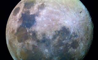 what color is the moon tonight across the universe the iss and a colorful moon