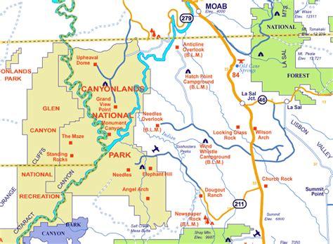 canyonlands national park map canyonlands national park map of utah