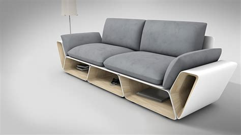 design a sofa more counter space while showcasing a creative furniture