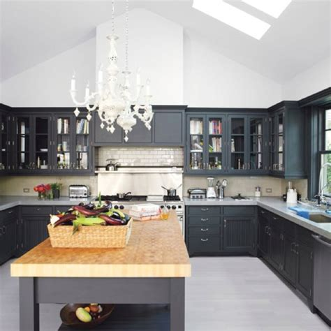 dark grey cabinets kitchen black cabinets concrete countertops kitchen