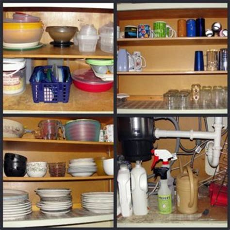 how to arrange kitchen cabinet contents organize kitchen cabinets hall of fame before after