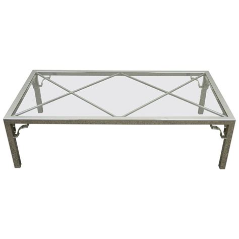 Mid Century Modern Polished Chrome X From Glass Top Coffee Modern Chrome Coffee Table