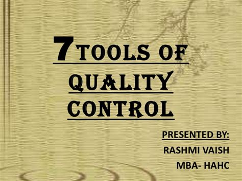 Tools Of Mba by Seven Tools Of Quality