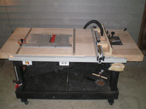 table saw work bench table saw router or work bench by puzzled