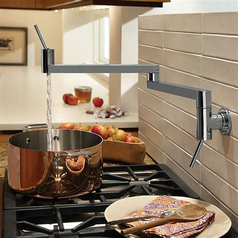 kitchen pot filler faucets pot fillers contemporary pot filler kitchen faucet from dxv