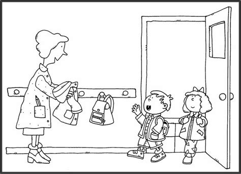preschool rules coloring pages 34 best rentr 233 e scolaire images on pinterest colouring
