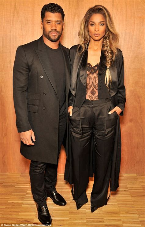 Sheer Plain Blazer In Black ciara and beau wilson put on a smooth all
