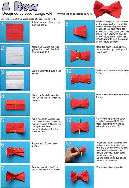 How To Make Paper Bow Ties - diy origami bow origami and rubik s cube
