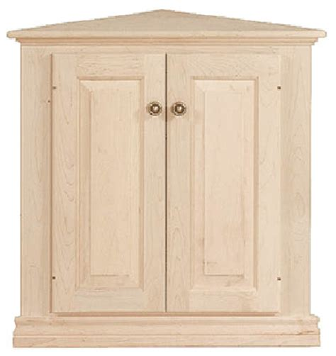 Unfinished Furniture Cabinet by Unfinished Traditional Two Door Corner Cabinet 26