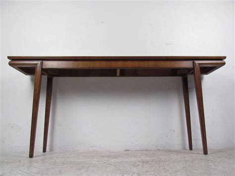 mid century modern sofa table mid century modern american walnut console table at 1stdibs