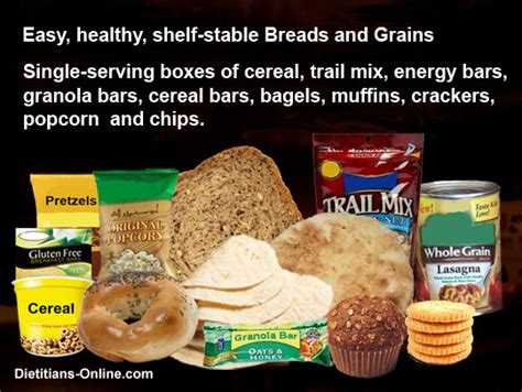 Shelf Stable Foods by Dietitians Home Food Safety When The Power