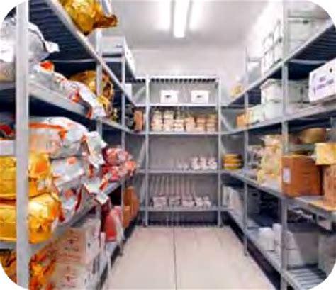 magazzino alimentare scaffalature piani in alluminio alimentari celle frigorifero
