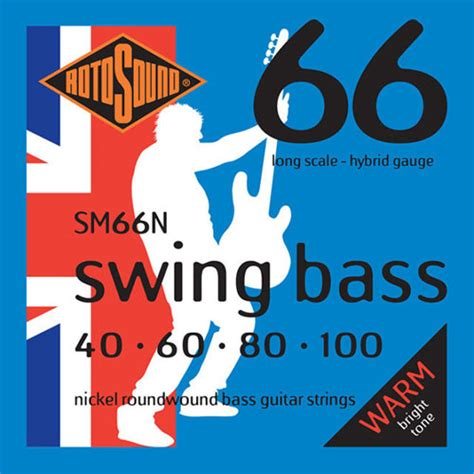 rotosound swing bass strings rotosound sm66n swing bass 4 string set 40 100 nickel