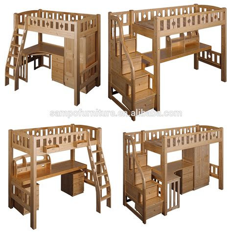 cama con escritorio debajo l en forma de madera literas con escritorio armario debajo