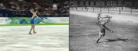 olympics then and now the evolution of winter olympics in gifs