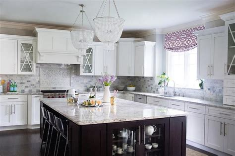yellow and gray kitchen transitional kitchen grant k gibson amazing kitchen features a pair of beaded chandeliers
