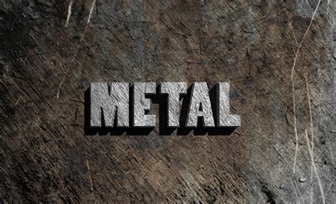 Metal Typography Photoshop Tutorial | 20 amazing 2d 3d text effect adobe illustrator tutorials