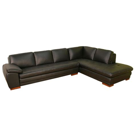 modern brown leather sectional sofa s3net sectional